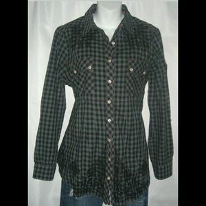 3J Workshop By Johnny Was Embroidered Flannel S
